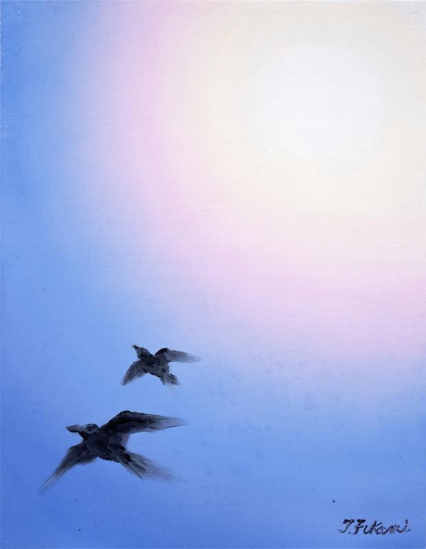 善福寺公園上空のカラス