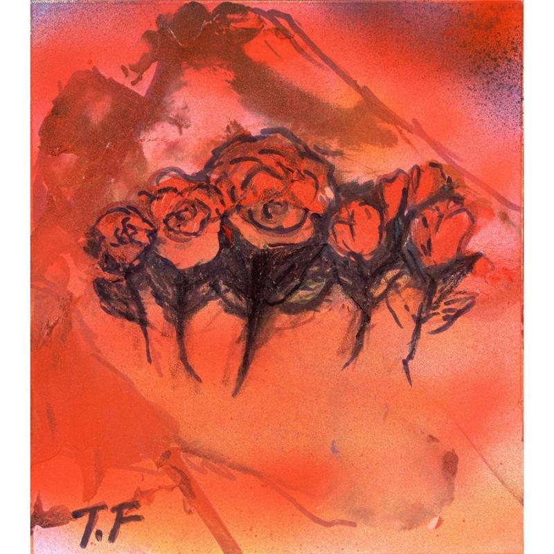 バラが舞い上がる仙人の谷