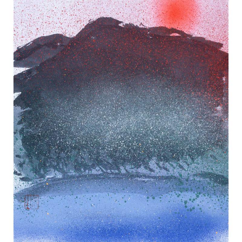 比良山の太陽