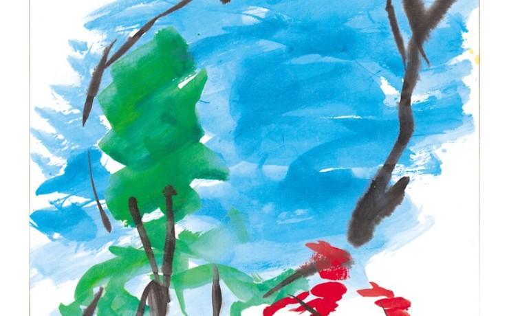 琵琶湖の赤いスイートピー