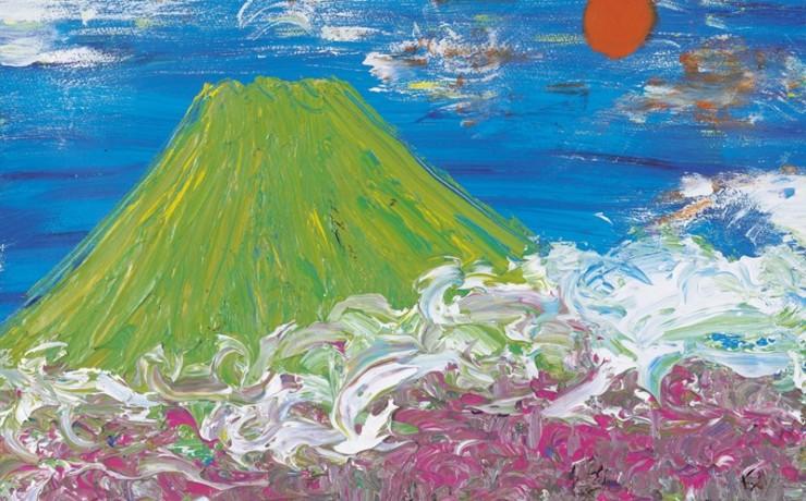 富士梅林白雲降りる夜明けかな