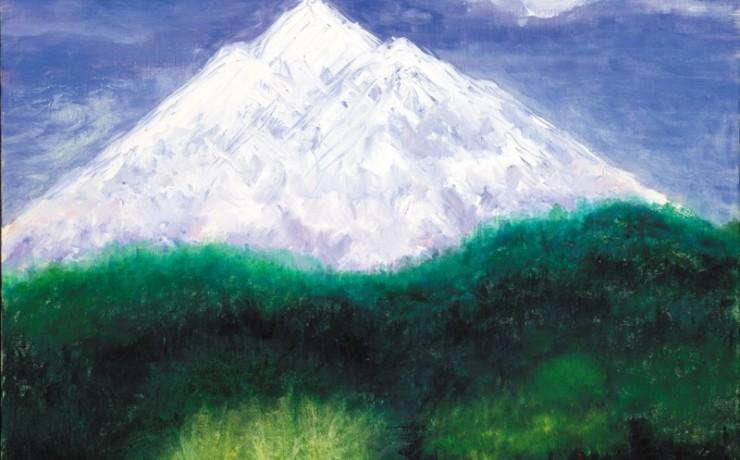 春の岩木山
