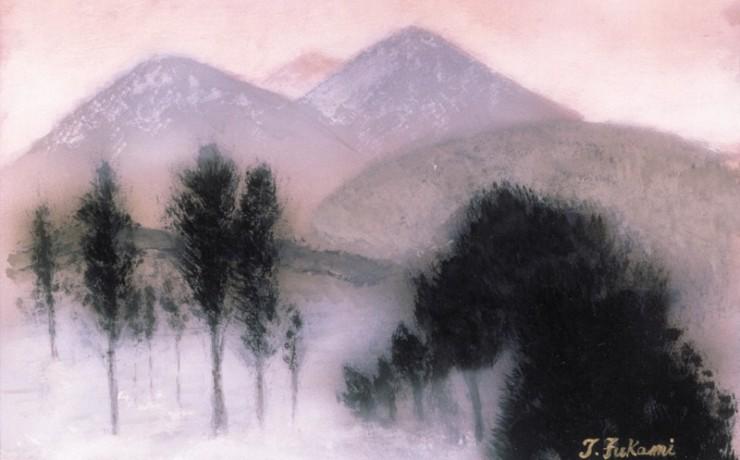 朝靄の八甲田山