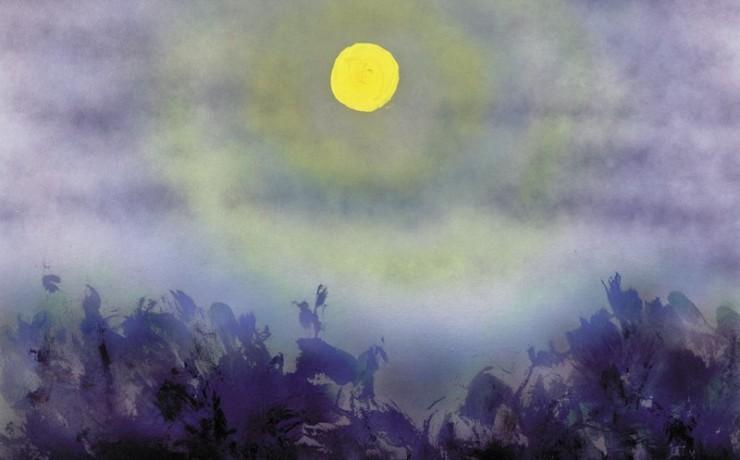 月夜の諏訪大社