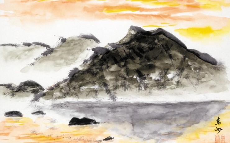 厳島の夕焼け