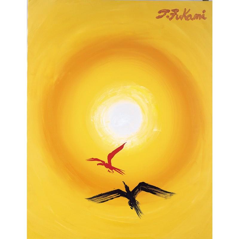 曾火の鳥 〜火の鳥の曾孫が太陽に向かって飛び立っていく〜