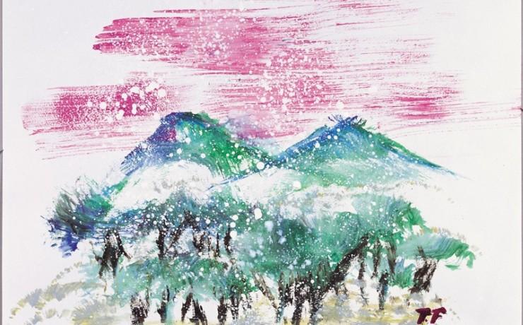 ある山の雪景色
