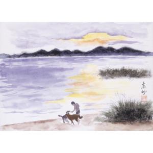 猪苗代湖の夕焼け