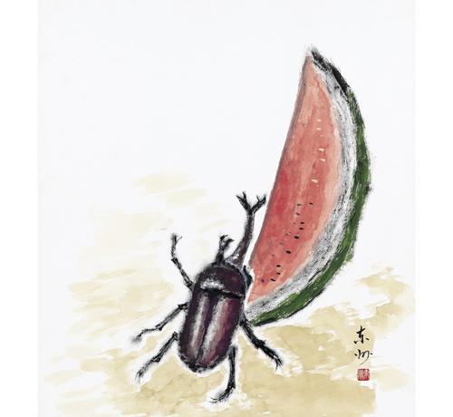 カブト虫は西瓜がお好き