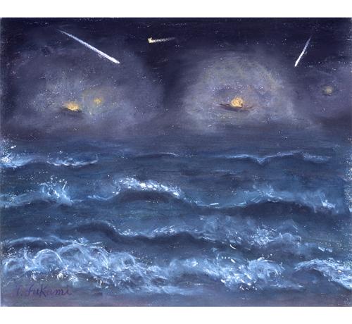 獅子座流星群と氷見の海