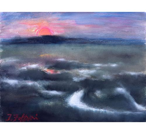 釧路湿原こんな夕陽があったのか