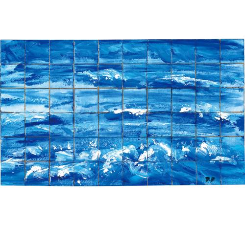 石垣島の海(豆色紙60枚合作)