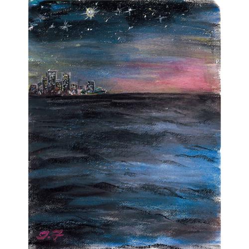 夕陽が沈んだ後のスワン河