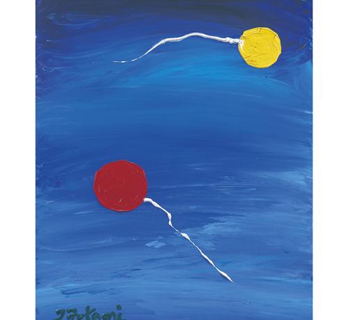 渦潮に落ちた風船